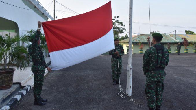 Korem 044/Gapo Awali Kegiatan Minggu Militer Bulan Juni, Gelar Upacara Bendera/theeast.co.id