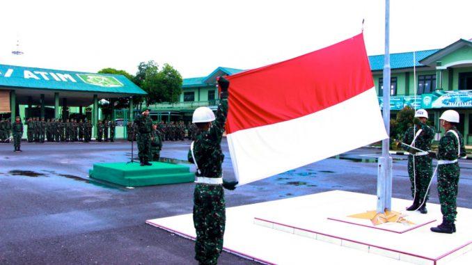 Kodim 0104/Atim Memupuk Cinta NKRI Lewat Upacara Bendera/theeast.co.id