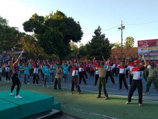 Olahraga Bersama Kodim Bangli Dengan Polres Bangli/theeast.co.id