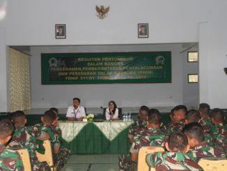 Tes Urine Prajuritnya, Yonif 511/DY Gandeng BNN Kab. Blitar/theeast.co.id