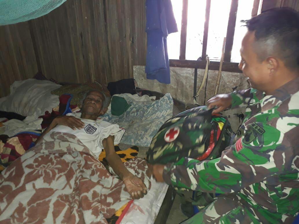 Cepat Tanggap Melayani Masyarakat Itulah Semboyan Tim Kesehatan Satgas Raider 408/SBH/theeast.co.id