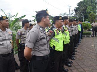 Apel Kesiapan Pengamanan Pembukaan Festival Budaya Pertanian, Di Pimpin Kabag Ops Polres Badung/theeast.co.id
