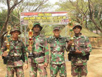 Kompi Markas (Macan) Juara Menembak Antar Kompi Yonif Para Raider 433/JS/theeast.co.id