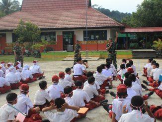 """"""" Mulawarman Peduli """" Kepedulian Koramil 0906-03/Loa Janan Dalam Bidang Pendidikan/theeast.co.id"""