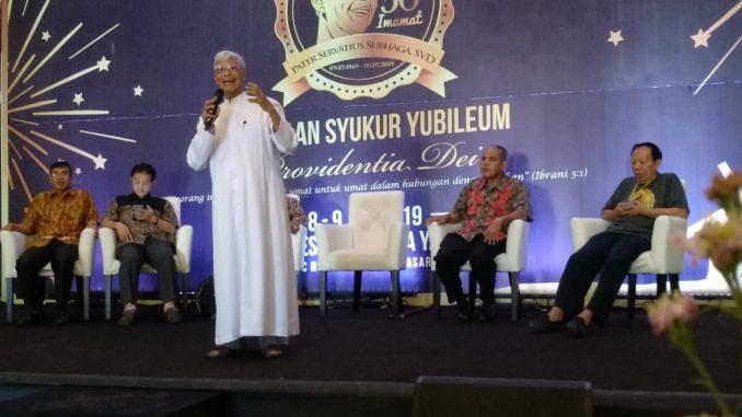 Rayakan Emas Imamat, Romo Subhaga SVD Sebut Agama Pun Mesti Menyapa Budaya Setempat/theeast.co.id