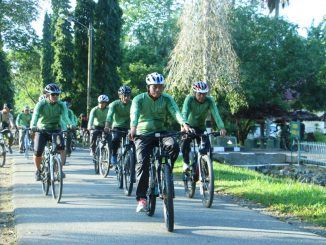 Jalin Silaturahmi, Danrem 012/TU Melaksanakan Sepeda Santai Bersama Prajurit/theeast.co.id