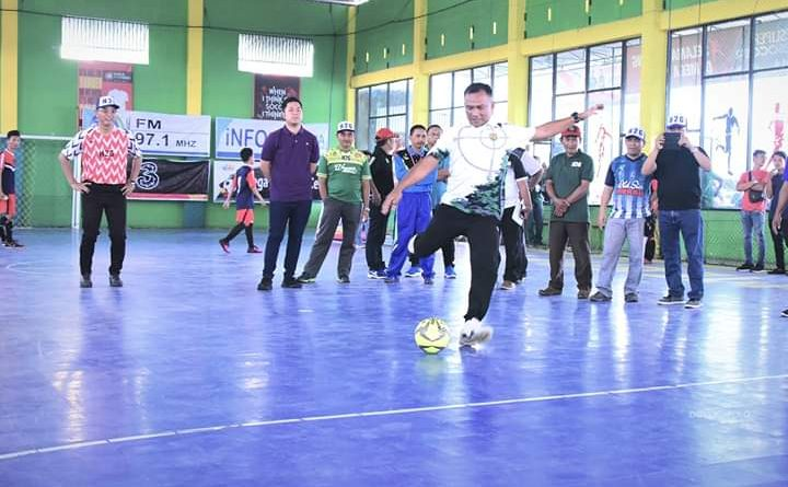 Dandim 0406/Mura Hadiri Open Tournament Bupati Cup Futsal U-21/theeast.co.id
