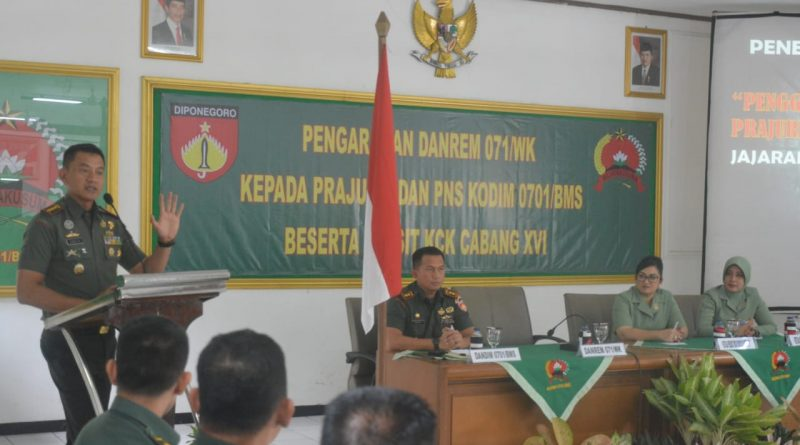 Danrem 071/Wijayakusuma : Waspada Jarimu Menari, Jangan Sampai Sebar Hoax/theeast.co.id