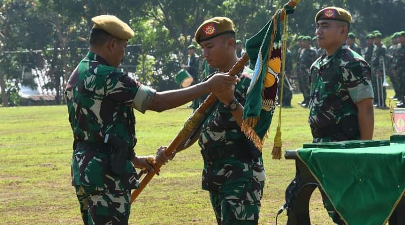Tongkat Kepemimpinan Danyon Arhanud 15/DBY Diserahterimakan/theeast.co.id