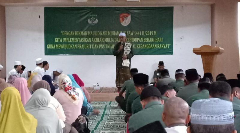 Kodim 0505/Jakarta timur Peringati Maulid Nabi Muhammad SAW 1441 H / 2019 M/theeast.co.id
