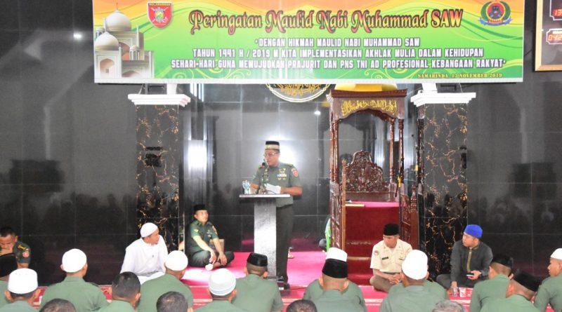 Peringati Maulid Nabi, Danrem 091/ASN Berpesan Agar Teladani Rasulullah/theeast.co.id