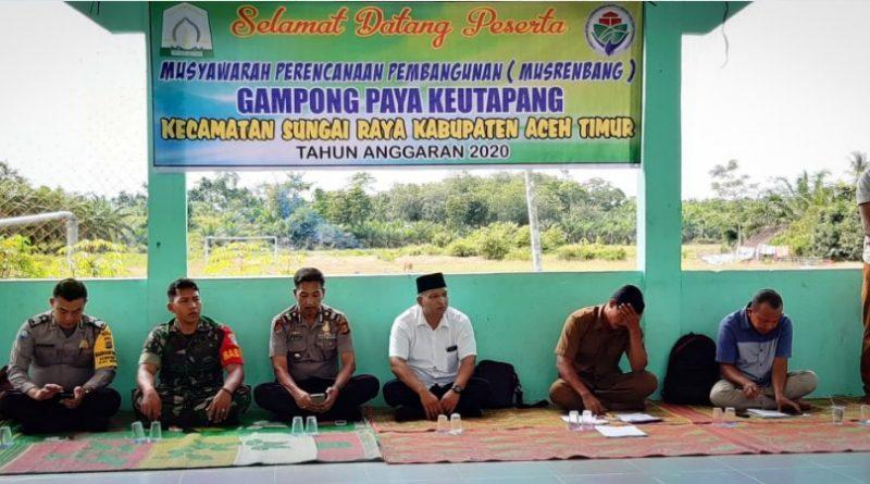 """""""Musrenbang Desa Paya Keutapang Tahun 2020 Dipantau Danramil 12/Sry""""/theeast.co.id"""