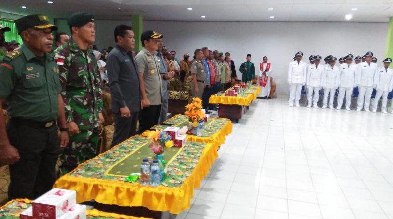 Satgas Raider 300 Menghadiri Pelantikan Kepala Kampung Serentak di Keerom/theeast.co.id