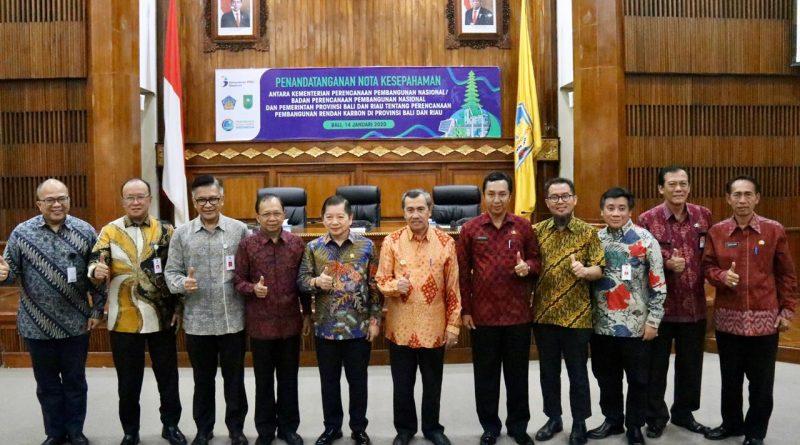 Senafas dengan Nangun Sat Kerthi Loka Bali, Gubernur Koster Dukung Perencanaan Pembangunan Rendah Karbon/theeast.co.id