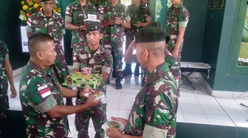 Yonif Raider 142/KJ Rayakan HUT Batalyon Ke-67 Di Perbatasan RI-RDTL/theeast.co.id