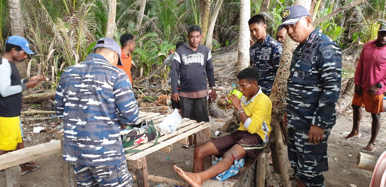 Guspurla Koarmada III Beri Layanan Medis di Pulau Sabuda/theeast.co.id