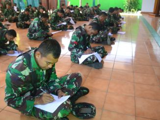 Ratusan Personel Kodim 1407/Bone Mengikuti Ujian /theeast.co.id