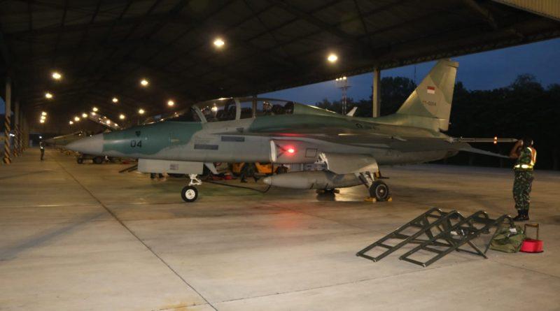 Tiga Skadron Udara Tempur Lanud Iswahjudi Latihan Pertempuran Udara Malam Hari/theeast.co.id