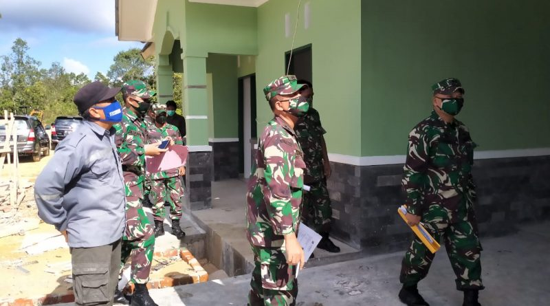 Tim Wasbang Itdam VI/Mlw Kunjungi Pembangunan Perumahan Dinas Kodim 0913/PPU/theeast.co.id