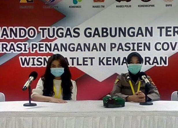 Para Tenaga Medis TNI, Polri dan Relawan Merayakan Hari Raya Idul Fitri 1 Syawal 1441 H di RSD Wisma Atlet/theeast.co.id