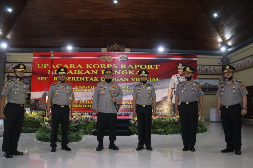 Upacara Kenaikan Pangkat di Polda Bali Digelar Secara Virtual dan Serentak/theeast.co.id