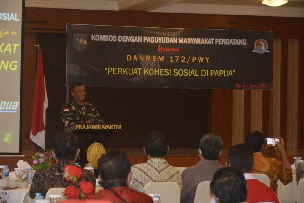 Danrem 172/PWY Berharap Keberadaan Paguyuban dapat Membantu Penyelesaian Konflik di Papua/theeast.co.id