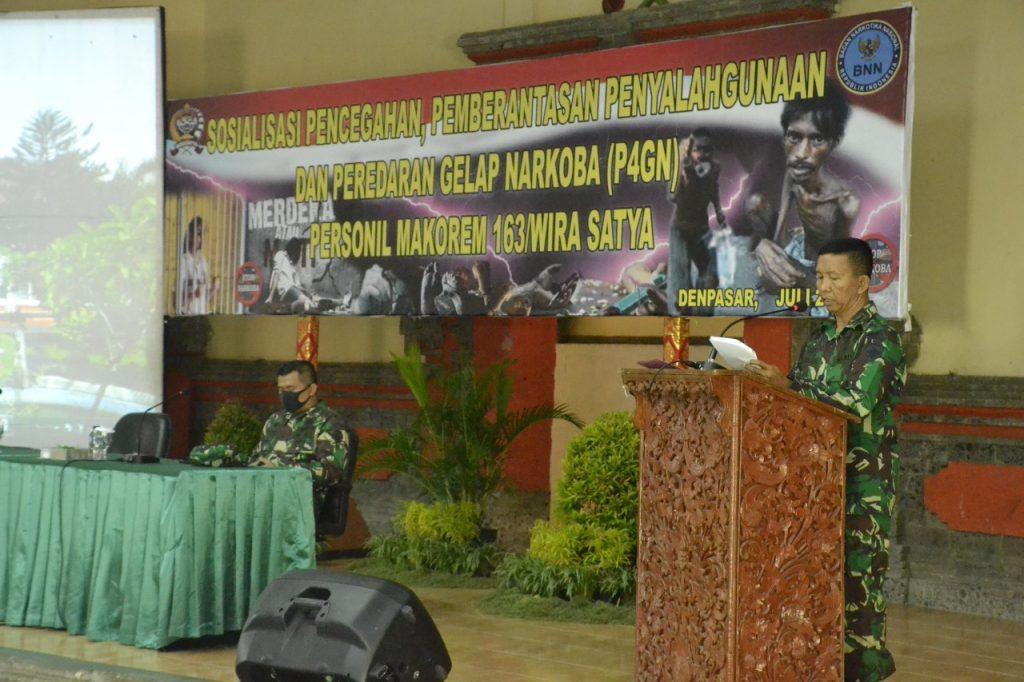 Danrem 163/Wira Satya Ingatkan Jajaran untuk Jauhi Narkoba, Sayangi Keluarga Kita/theeast.co.id