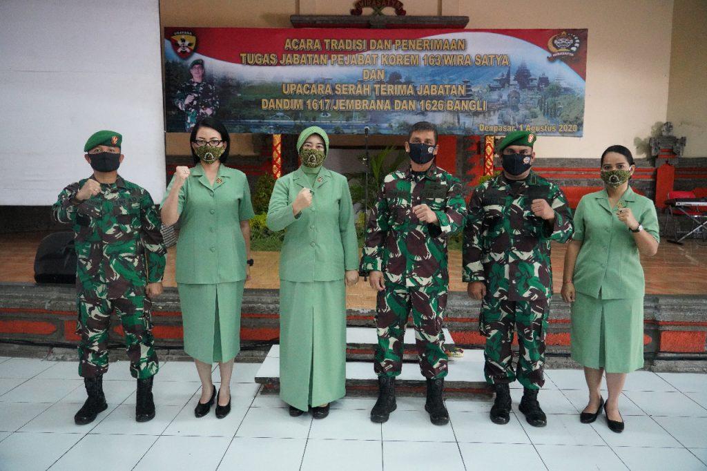 Lima Jabatan Strategis Di Lingkungan Korem 163/ Wira Satya Diserahterimakan/theeast.co.id