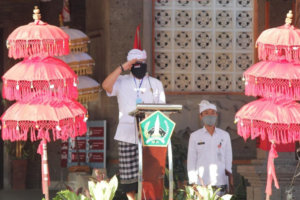 Wabup Sanjaya Pimpin Apel Hari jadi ke-62 Provinsi Bali di Kabupaten Tabanan/theeast.co.id