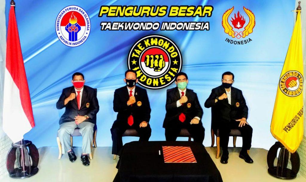 Ketua Umum PBTI Lantik Pengurus Taekwondo Indonesia Provinsi Jambi Masa Bakti 2020-2024 Secara Virtual/theeast.co.id
