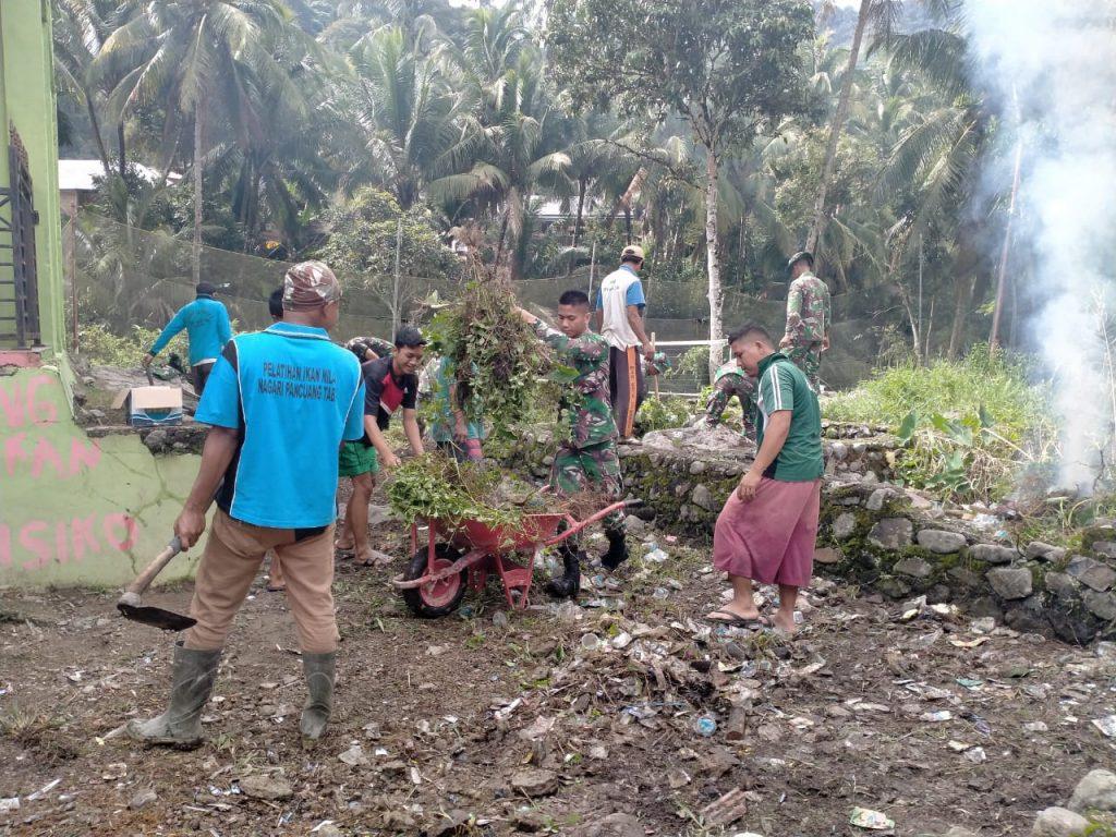 Satgas TMMD Ke-109 Kodim 0311/Pessel Gelar Karya Bhakti Bersama Masyarakat Pancung Taba/theeast.co.id