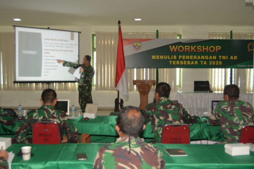 Tingkatkan Kemampuan Insan Penerangan TNI AD, Dispenad Gelar Workshop Menulis di Kodam IX/Udy/theeast.co.id